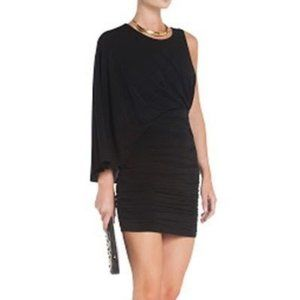 BCBGMaxAzria Draped Venus Cocktail Dress BLACK
